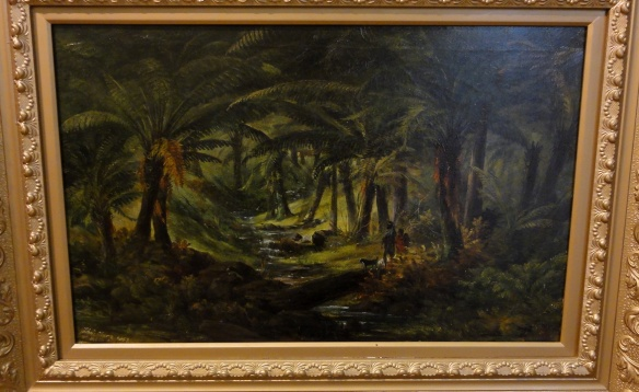 "Thomas Clark ""Fern gully with Aboriginal family"" 1863 r. Art Gallery of New South Wales Sydney."