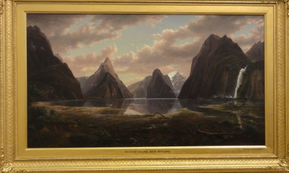 "Eugene von Guerard ""Milford Sound, New Zealand"" 1877-79 r. Art Gallery od New South Wales Sydney."