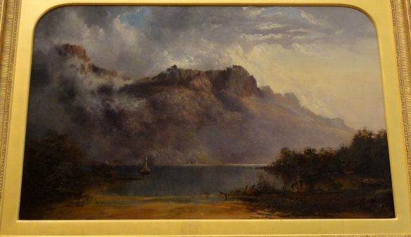 "Fearnleigh Montague ""Mount warning"" 1875 r. Art Gallery of New South Wales Sydney."