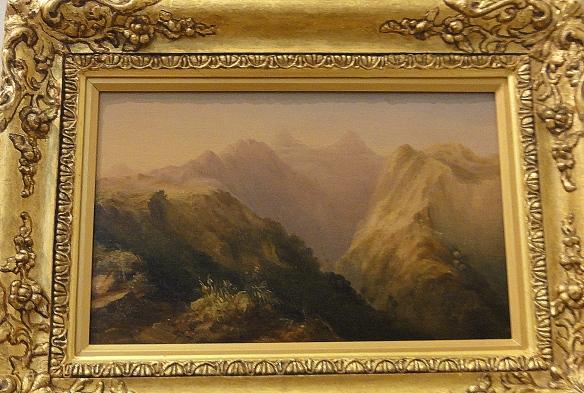 """Conrad Martens """"Orofena Tahiti """" 1843 r.  Art Gallery od New South Wales Sydney."""