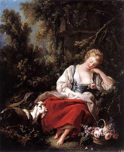 488px-François_Boucher_-_Dreaming_Shepherdess_-_WGA02914
